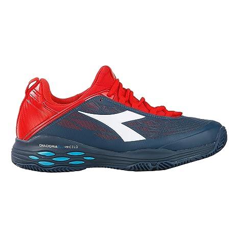 Diadora Hombres Speed Blushield Fly Clay Zapatillas De Tenis Zapatilla Tierra Batida Azul Oscuro - Rojo