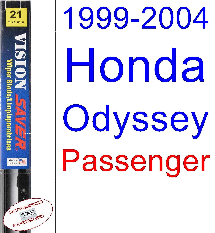 Amazon.com: 1999-2004 Honda Odyssey Wiper Blade (Passenger) (Saver Automotive Products-Vision Saver) (2000,2001,2002,2003): Automotive