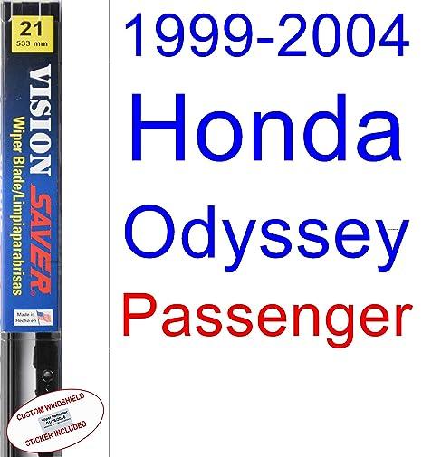 1999 – 2004 Honda Odyssey hoja de limpiaparabrisas de repuesto Set/Kit (Saver Automotive