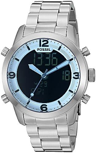 Fósil de Hombre fs5176 Piloto 54 Digital Reloj de Acero Inoxidable: Amazon.es: Relojes