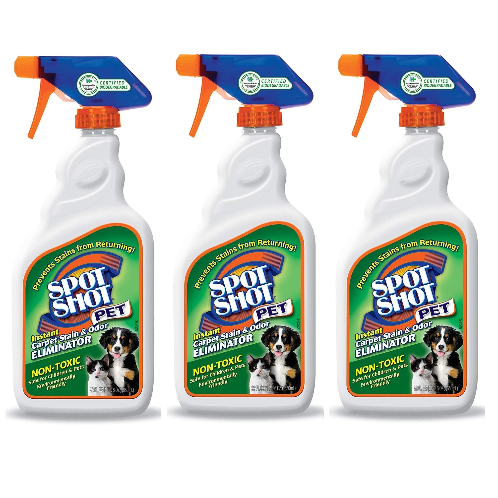 Spot Shot 099126 Instant Carpet Pet Stain & Odor Eliminator, 22 oz. - 3 Pack