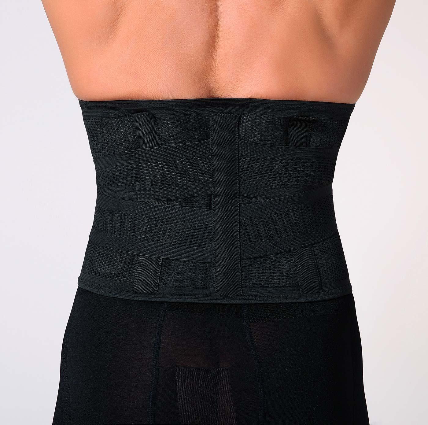 b9317ccf69361 Amazon.com  Panegy Men s Waist Lumbar Trainer Girdle Beer Belly Trimmer  Adjustable Shapewear  Clothing