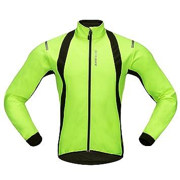 Movaty WOSAWE Chaquetas para Hombre, Chaqueta Ciclismo, Resistente a la Lluvia a Prueba de Salpicaduras térmica de Alta Visibilidad de Color Silver ...