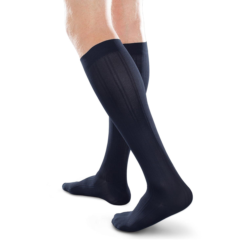 81c3e54cc19 Amazon.com  Ease Opaque Women s Mild 15-20mmHg Compression Chevron Trouser  Socks (Black