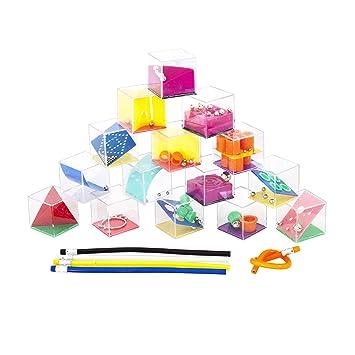 Funny YAS Lote 30 Juegos de Habilidad + 30 Lápices de Colores Flexibles. Regalo Original para Invitados Cumpleaños,Bodas,Bautizos y Comuniones. ...