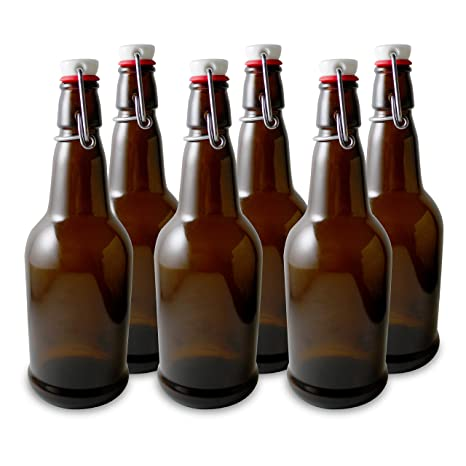 Amazoncom Secure Swing 16 Oz Beer Bottles With Ceram Seal Ceramic