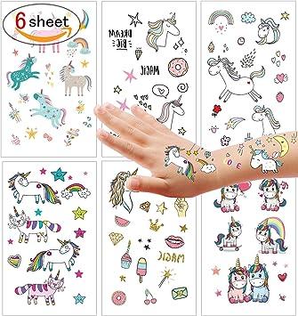 Etitulaire Kit Tatouage Enfant Tatoo Ephemere Enfant Pour Fille Garcon Tatouage Licorne Pour Enfant Petit Cadeau Tatoos Avec Motifs Accesoired Tatoo Enfant Amazon Fr Jeux Et Jouets