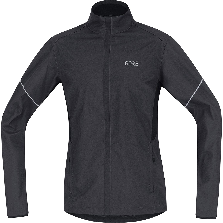 Terra gris noir XXL GORE Wear Homme Veste de Course Coupe-vent, GORE R3 Partial GORE WINDSTOPPER veste, Taille  S, Couleur  Noir Jaune Fluo, 100091