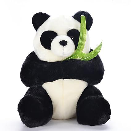 Amazon Com Lazada Panda Plush Stuffed Animal Toy Hold Bamboo Gifts