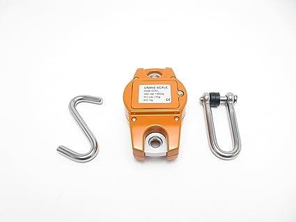Hyindoor 300KG Escala de grúa Electrónica Báscula Digital de Grúa para Pesca Industrial con Gancho Resistente: Amazon.es: Bricolaje y herramientas