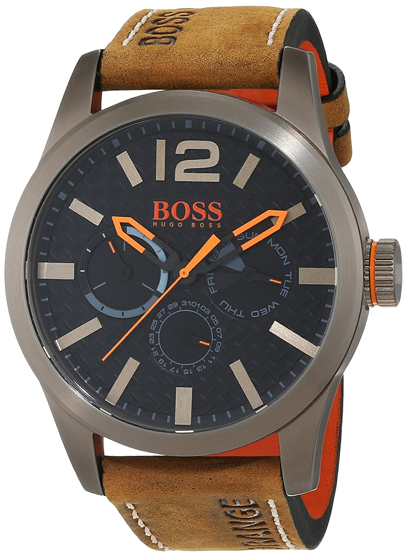 Reloj  de pulsera analógico Hugo Boss Orange para Hombre, 1513240, Marrón/Negro