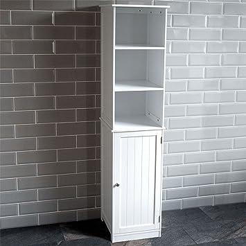 ae0ec69fd26d Home Discount Priano Bathroom Cabinet Storage Cupboard Floor Standing  Tallboy Unit, White