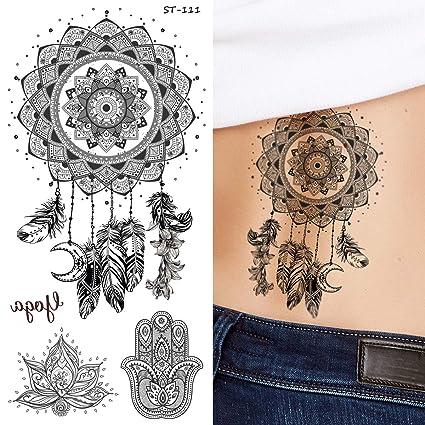 Supperb Tatuajes temporales - Negro y blanco atrapasueños ...