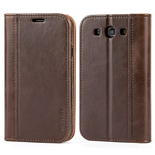 2 opinioni per Mulbess Cover Samsung Galaxy S3 Custodia In Pelle Con Supporto per Samsung