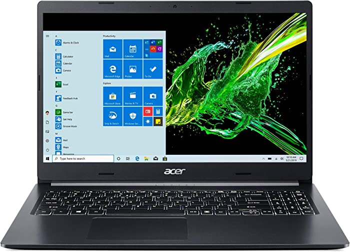 "Acer Aspire 5 A515-55T-53AP, 15.6"" HD Touch Display, 10th Gen Intel Core i5-1035G1, 8GB DDR4, 256GB NVMe SSD, WiFi 6, HD Webcam, Backlit Keyboard, Windows 10 Home"