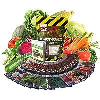22,000 Non GMO Heirloom Vegetable Seeds, Survival Garden, Emergency Seed Vault, 34 VAR, Bug Out Bag - Beet, Broccoli…