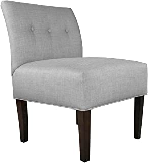 product image for MJL Furniture Designs Samantha Collection Fabric Upholstered Button Tufted Living Room Accent Guest Chair, HJM100 Series, Dark Gray