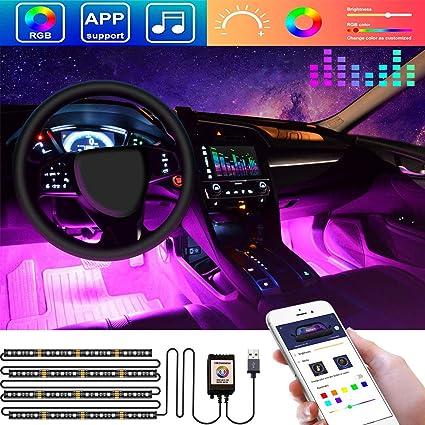 Led Lights For Cars >> Amazon Com Led Interior Car Lights App Controlled Car Interior