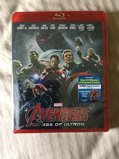 Marvel's Avengers: Age of Ultron(Plus Bonus Features) BEWARE 1-disc version is shipping in a red case instead of blue