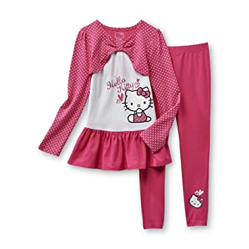 5e6d5ef698338 Amazon.com: Hello Kitty Girl's Tunic Top & Leggings Set (6 yrs): Baby