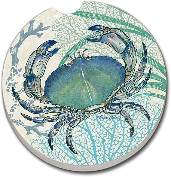 CounterArt absorbente gres posavasos de coche (1), Oceana azul cangrejo: Amazon.es: Hogar