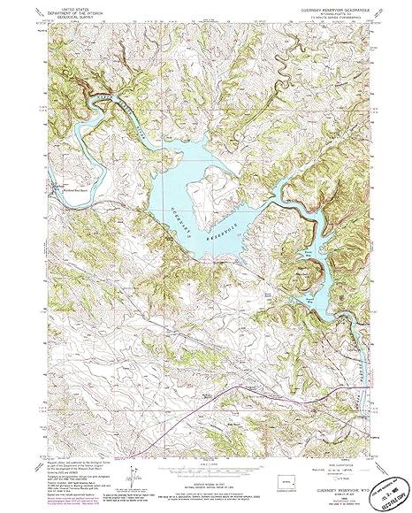 Amazon.com : YellowMaps Guernsey Reservoir WY topo map, 1 ... on