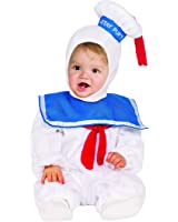 Rubie's Baby Classic Ghostbusters Ez-on Stay Puft Romper Costume, White, Toddler 3T-4T