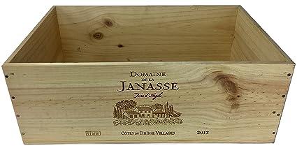 Vineyard Cajas de Vino Francés – 12 Botellas de Madera de Vino Caja de Vino para