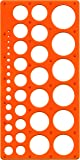 Pochoir Maped Technic M277620 pour cercles de diamètre 1 à 35 mm, orange