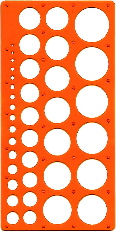 orange Kreisschablone Technic f/ür Kreise Durchmesser 1-35 mm Maped M277620