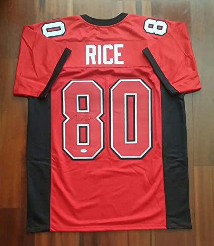 825846bc42b Image Unavailable. Image not available for. Color  Signed Jerry Rice Jersey  - PSA DNA Certified - Autographed ...
