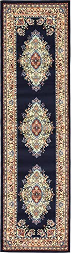Unique Loom Reza 3 10 feet 3' x 10' Runner Mashad Area Rug