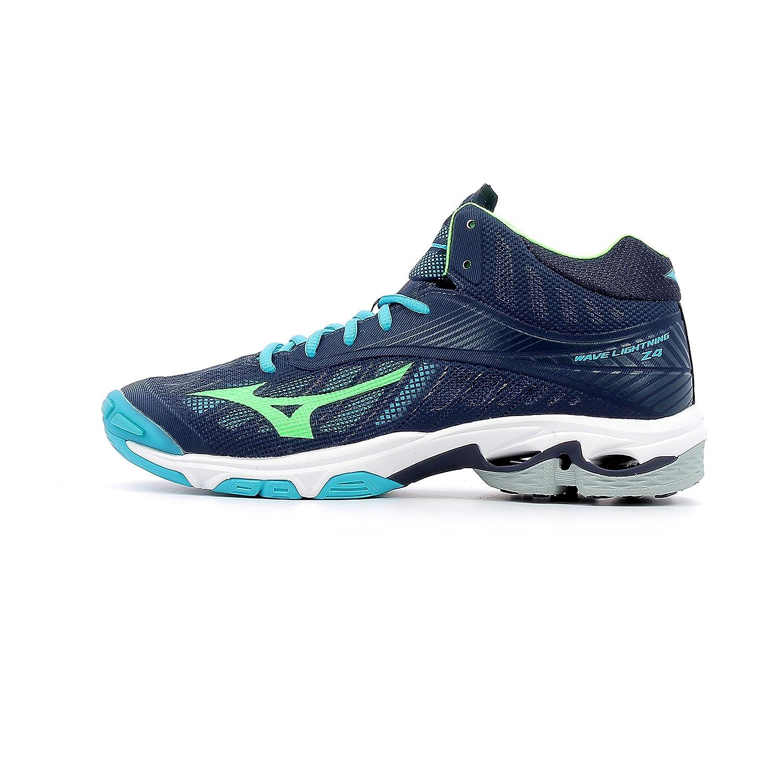 Mizuno Wave Lightning Z4 Mid, Zapatillas de Running para Hombre 40|bleu marine/vert gecko/bleu turquoise
