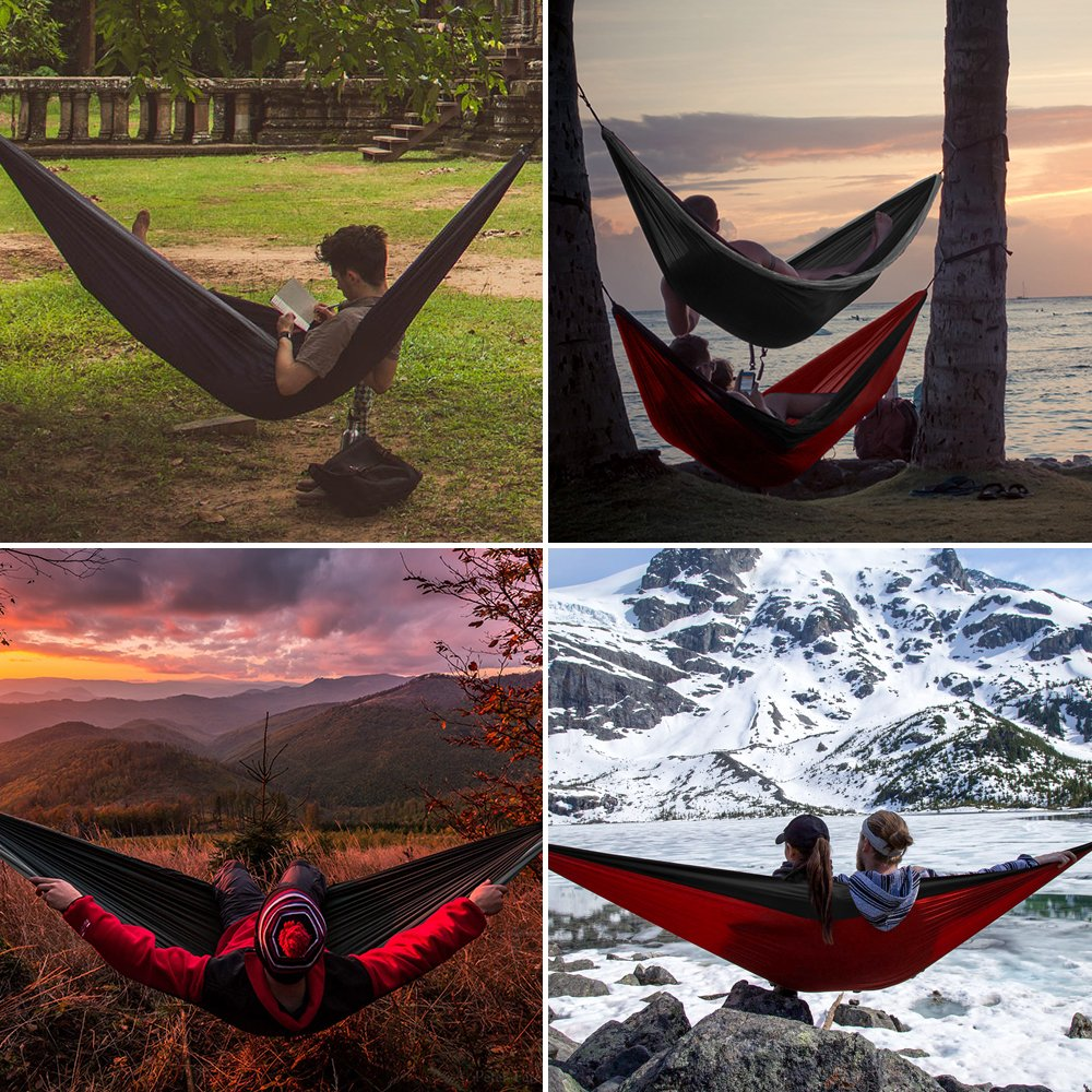 teah nylon outdoor ropes parachute and red camping grey double ace with products sleeping tree black hammock pack hammocks sports