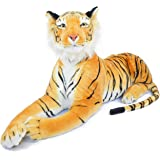 VIAHART Rohit the Orange Bengal Tiger | 4 Foot Long (Tail Measurement not Included!) Big Stuffed Animal Plush Cat | Shipping from Texas | By Tiger Tale Toys