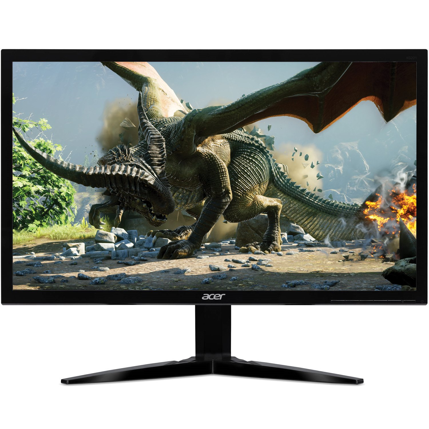 "Acer Gaming Monitor 21.5"" KG221Q bmix 1920 x 1080 1ms Response Time AMD FREESYNC Technology (HDMI & VGA Ports)"