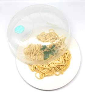 PlastArt 11.22 Inch Microwave Food Splatter Cover Lid with Steam Vent, Clear, BPA-Free