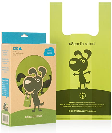 Amazon.com: Earth Rated Bolsas de residuos de perro con asas ...