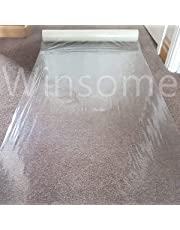 Winsome Clear Carpet Protector Film Self Adhesive Roll Temporary Protecting Water Resistant Floor Dust Sheet Cover