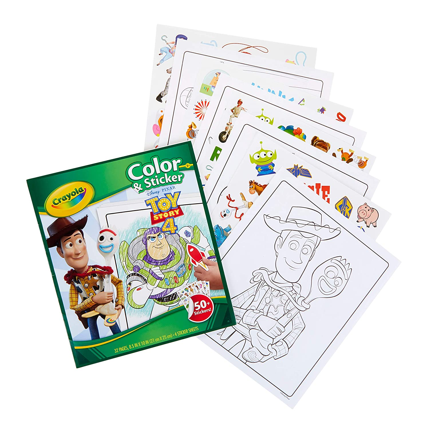 Crayola Toy Story 4 Coloring Pages Stickers Gift For Kids Age 3 4 5 6 7