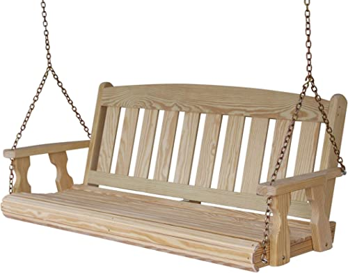 Amish Heavy Duty 800 Lb Mission 5ft. Treated Porch Swing