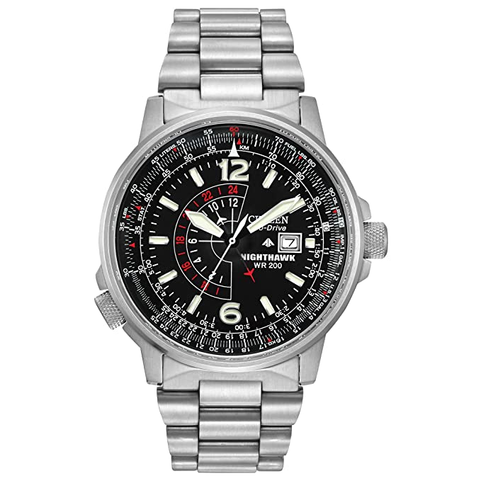 Eco-Drive Citizens Promaster Nighthawk Dual Time Watch