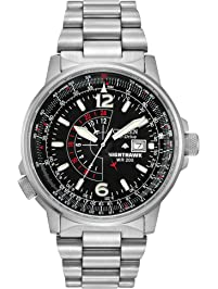 Citizen Men s Eco-Drive Promaster Nighthawk Dual Time Watch with Date 7f1788fe6