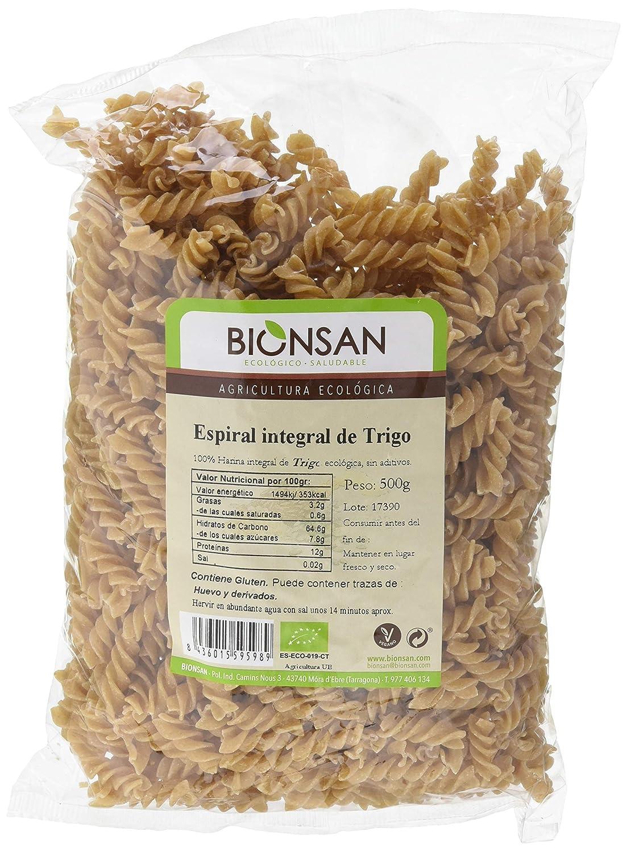 Bionsan Espiral Integral de Trigo - 6 Paquetes de 500 gr - Total : 3000 gr: Amazon.es: Alimentación y bebidas