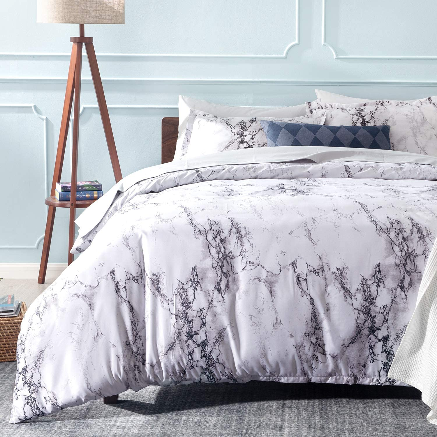 Bedsure Printed Duvet Cover Set King Size £9.49 with code 3ZLTEWUF @ Amazon