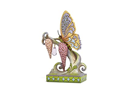Jim Shore Heartwood Creek Spring Wonderland Butterfly Stone Resin Figurine, 6