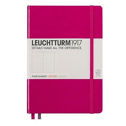Leuchtturm Hardcover Medium A5 Dotted Notebook [Berry]