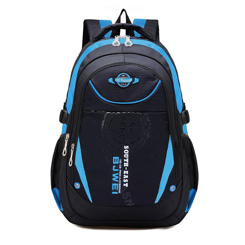 MAYZERO Kid's Outdoor Backpack School Bags Waterproof Travel Camping Bags (Blue)