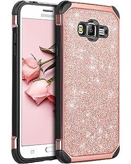 df1cd35257d BENTOBEN Galaxy Grand Prime Case, Galaxy J2 Prime Case, Glitter 2 in 1 Slim