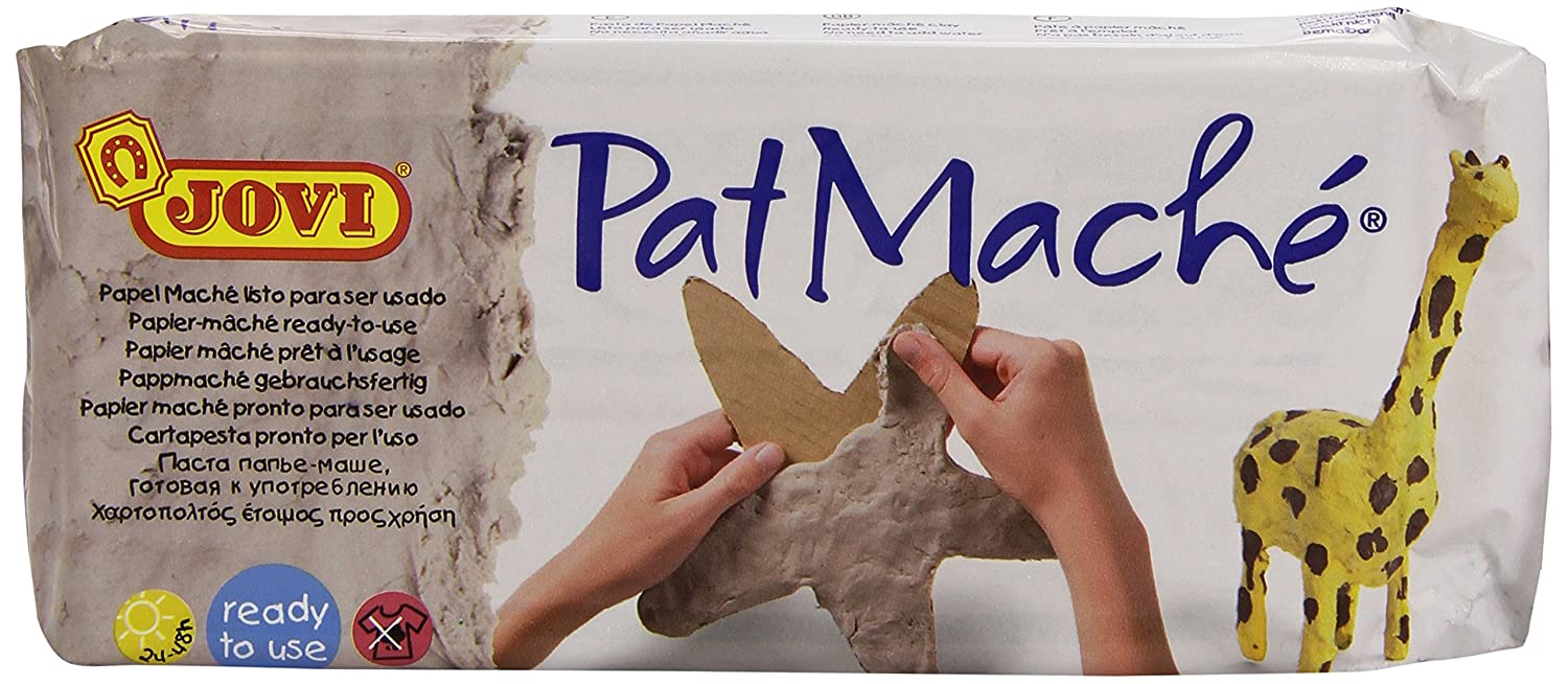 Jovi Pat Mache Ready-To-Use Air-Hardening Papier Mache; 1.5 pound, Mess-Free and Perfect for Arts and Crafts Projects Pro-Art 86380000